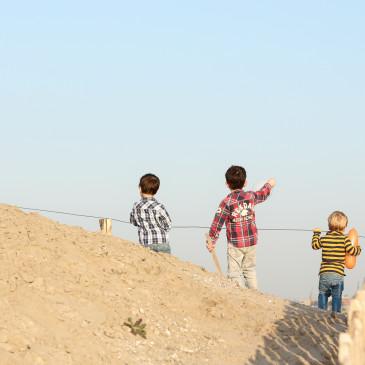 Fotoshoot met Lev, Gilad en Mats in Almere Duin