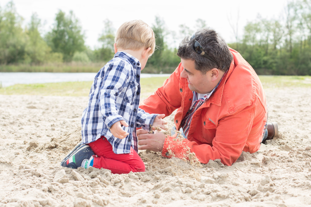 Familiefotografie strand almere haven